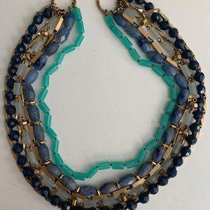 Vintage multi strand layered designer necklace